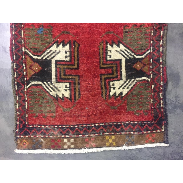 Vintage Turkish Oushak Hand-Knotted Wool Rug - 1' x 4' - Image 7 of 11