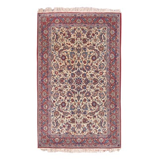 Isfahan Rug with Silk Foundation
