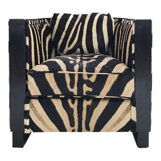 Paul Frankl Zebra Hide Lounge Chair