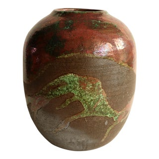 Kenny Kicklighter Hawaiian Pottery Vase with Ovoid Form