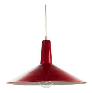 Modern Industrial Enameled Pendant Light