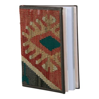 Kilim Journal | Kilim Diary in Black, Taupe and Faded Red