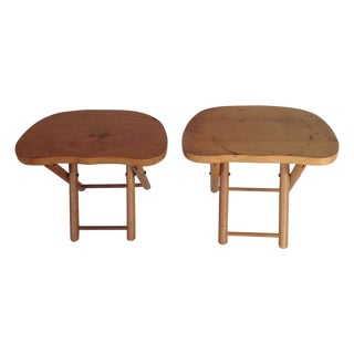 Child's Wooden Stools - Pair