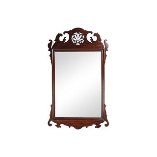 1950s Chippendale-Style Mahogany Mirror