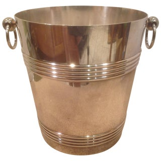 Christofle Silver Plated Art Deco Ice Bucket