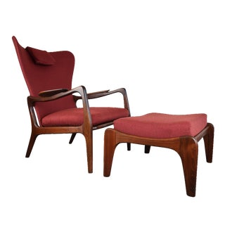 Adrian Pearsall Wingback Lounger & Ottoman