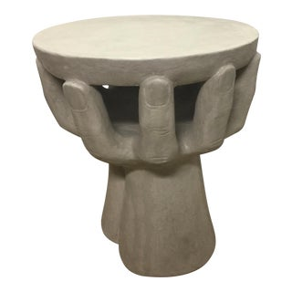 Concrete Hand Accent Table