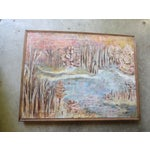 Image of 1950s Fall Landscape Painting, Signed Ellias