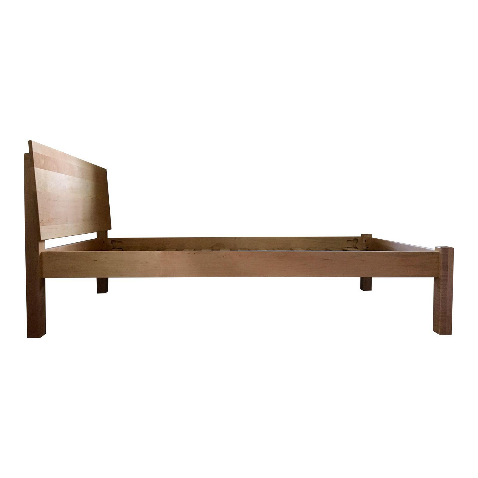 room u0026 board pogo twin bed with guard rail in solid maple