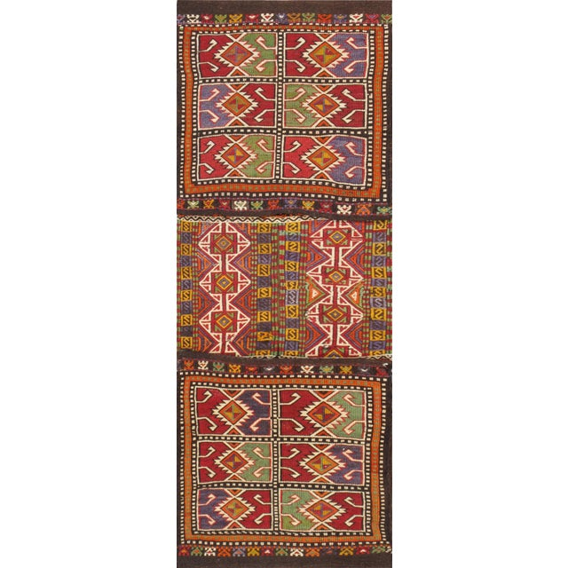 "Vintage Saddlebag Rug- 1'9"" X 4'10"" - Image 1 of 2"