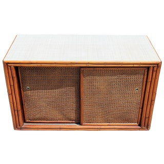 Mid-Century Bamboo Console