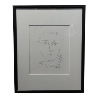 Picasso Poor Roby Original Signed Etching Framed