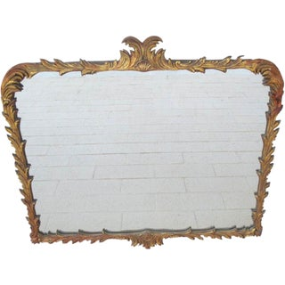 Antique Carved Painted Mirror
