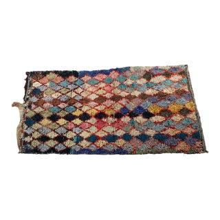 Vintage Boucherouite Carpet - 4′8″ × 8′9″