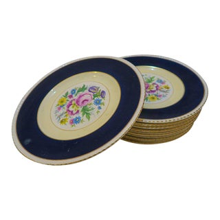 Cobalt Blue Fondeville Ambassador Luncheon Plates - Set of 11