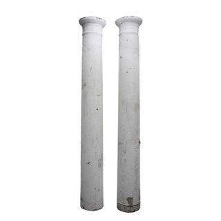 Antique Shabby Chic Pillars - A Pair
