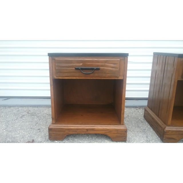 A. Brandt Ranch Oak Nightstands - A Pair - Image 8 of 11