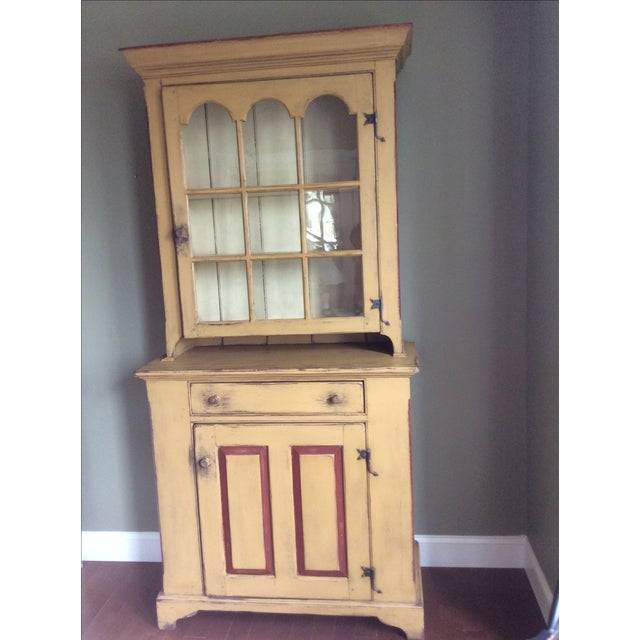 Reproduction Chester County Arched Door Cupboard - Image 2 of 9