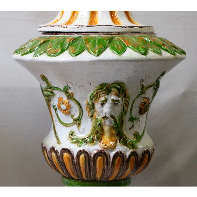 Italian Maiolica Table Lamps - A Pair - Image 6 of 9