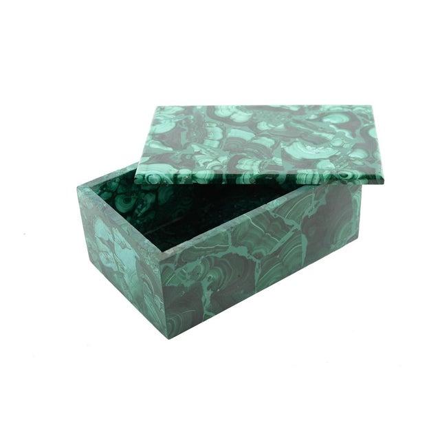 Image of Malachite Antique Lidded Box