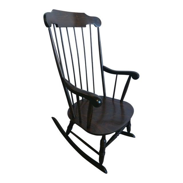 Vintage Spindle Back Windsor Rocking Chair - Image 1 of 5
