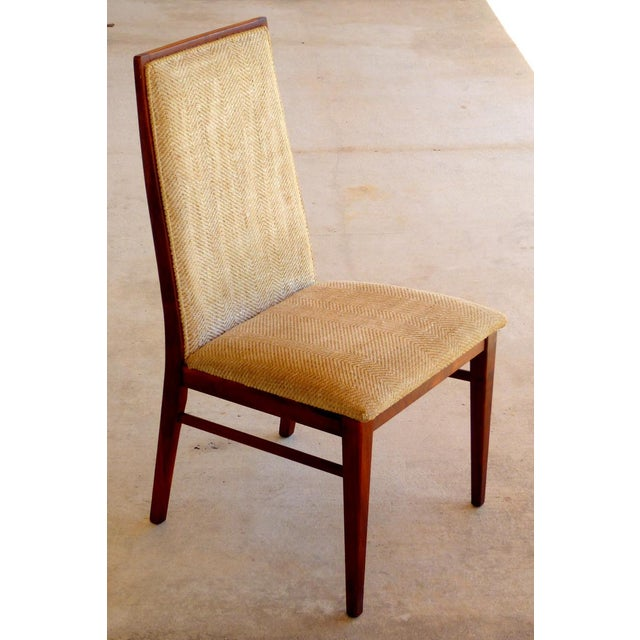 Dillingham Mid-Century Walnut Dining Chairs - Set of 6 - Image 7 of 9