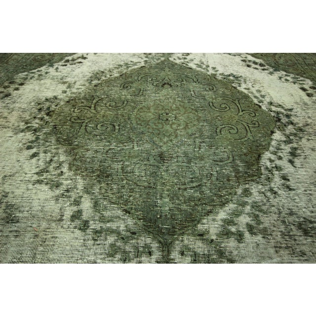 "Image of Jungle Green Tabriz Area Rug - 9' 5"" X 12'8''"