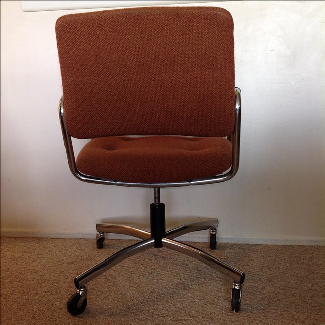 Vintage Orange Tweed Steelcase Office Chair - Image 8 of 9