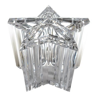 Mid-Century Modern Lucite/Acrylic Star Shape Ice Bucket