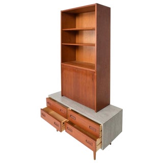 Danish Modern Cabinet with Hutch Teak