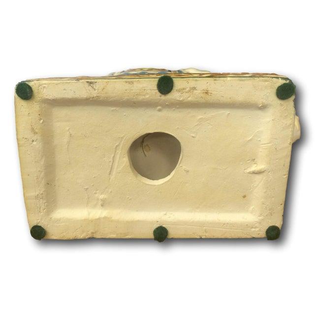 Vintage Chinoiserie Mini Elephant Pottery Stool - Image 5 of 5