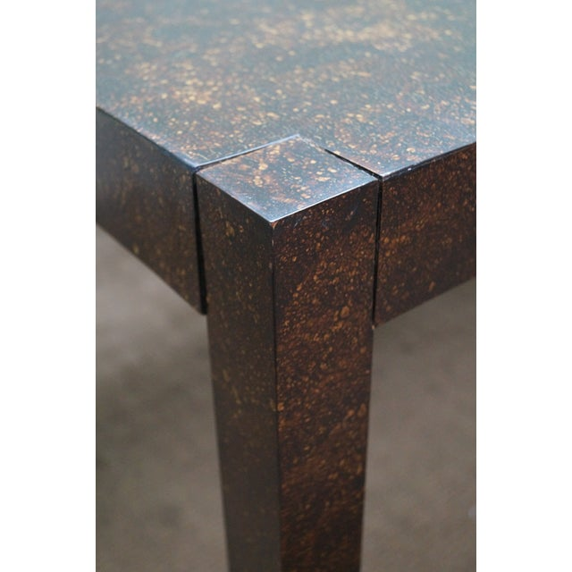 Drexel Faux Tortoise Shell Parsons Dining Table - Image 4 of 9