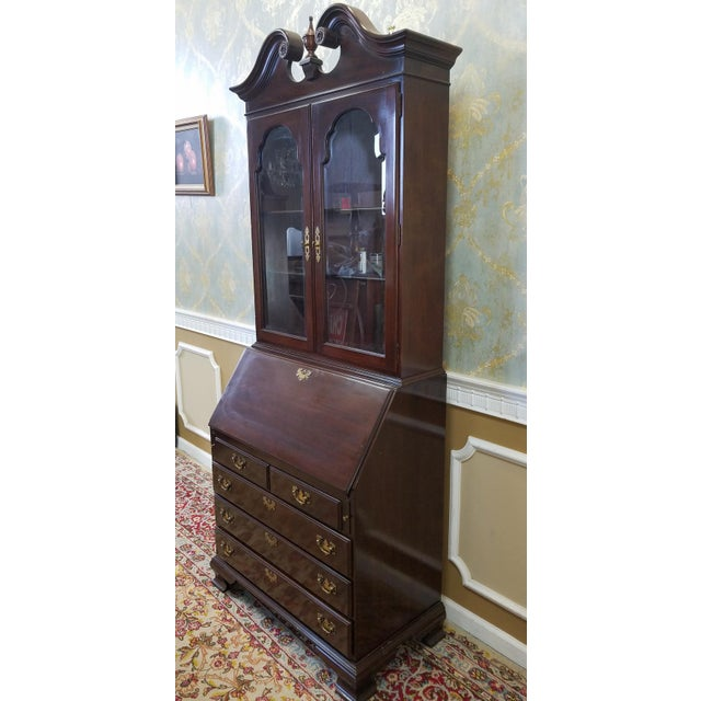 Ethan Allen Cherry Georgian Court Secretary Desk - Image 3 of 8
