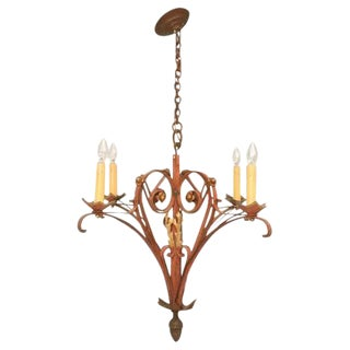 French Hand-Wrought Iron Chandelier