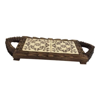 Silk Route Carved Tile Tray