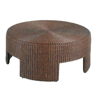 Hickory Chair Wicker Round Coffee Table