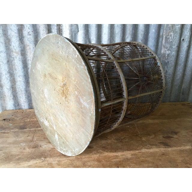 Image of Antique Bentwood & Metal Bird Cage