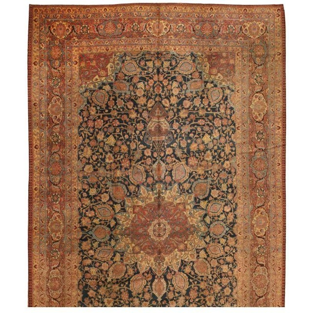 Image of Antique Oversize 19th Century Persian Tabriz Carpet