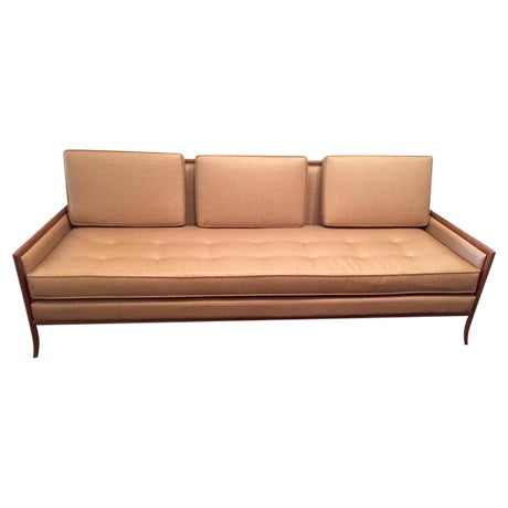 Mid Century Tan Cane Sofa Chairish