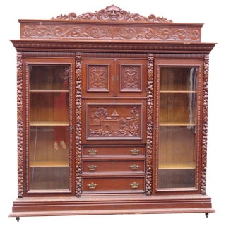 Monumental R.J. Horner Double Sided Bookcase Abbatant Desk
