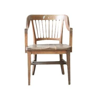 Oak of England Bank Chair - Image 1 of 4