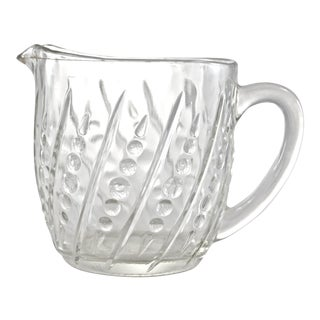 Mid-Century Bubble Glass Pitcher