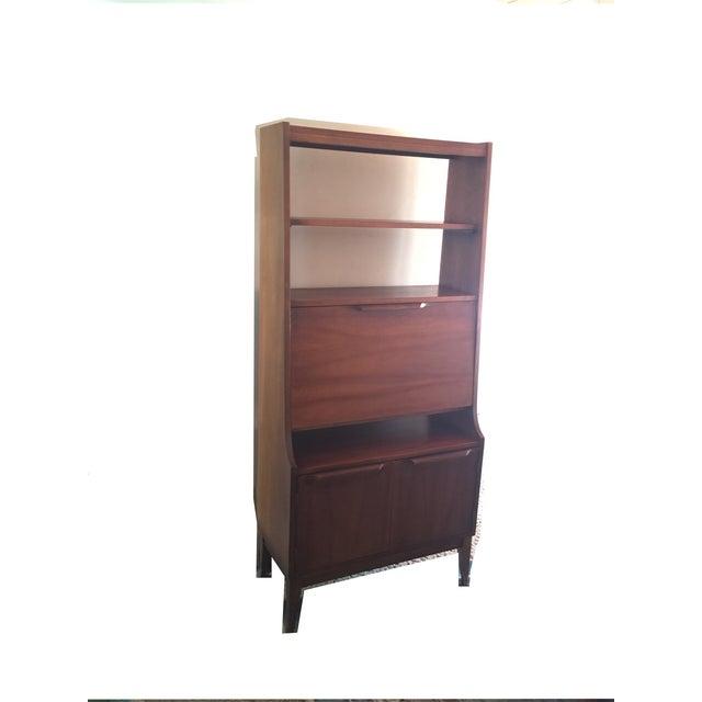 mid century modern secretary desk chairish. Black Bedroom Furniture Sets. Home Design Ideas