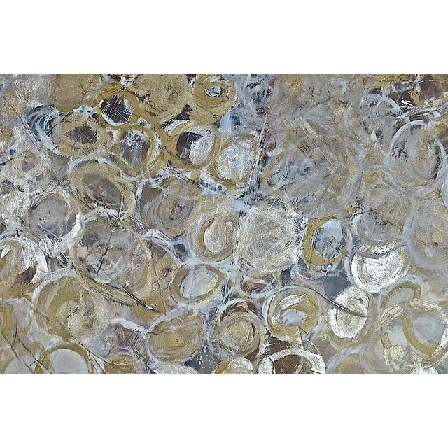 Image of Gold & Silver Circles Painting