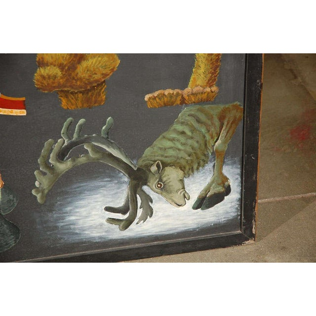 Large Painting Illustrating Elements of a Deer - Image 7 of 10