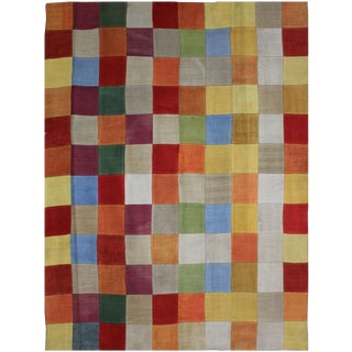 Hand Knotted Antique Patchwork Kilim - 8' X 6'6""