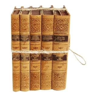 Vintage Leather Bound Book Bundle