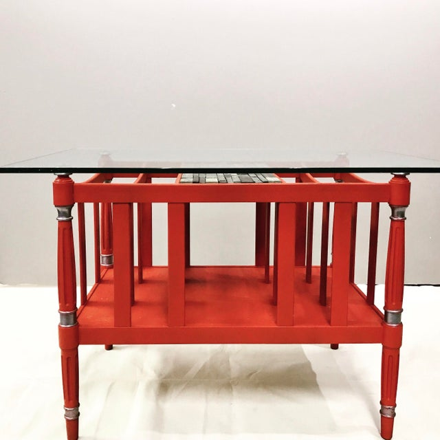 Magazine Rack Glass Top Coffee Table - Image 6 of 9