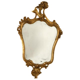 Italian Carved & Gilt Wood Mirror