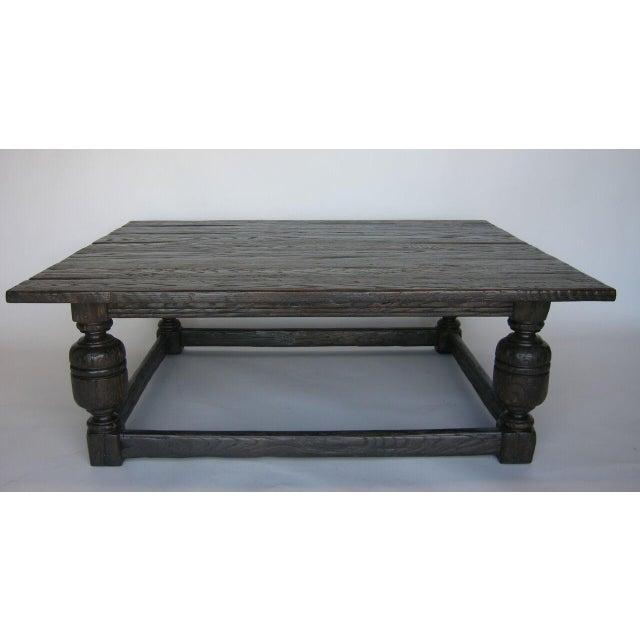 Custom Oak Wood Baroque Style Coffee Table - Image 4 of 6